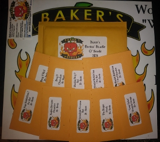 Baker's Burnin' Bundle O' Seeds - New 2018